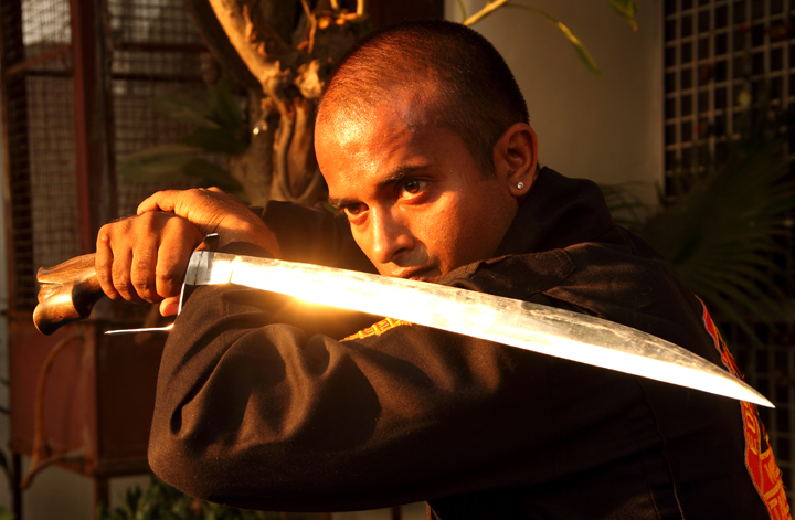Tuhon Kanishka Sharma Commando, Special Forces, NSG, Army, Police Trainer with Pekiti Tirsia Kali Ginunting Sword